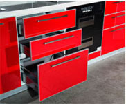 Hot Sale UV MDF High Glossy Kitchen Cabinet (ZX-030) pictures & photos