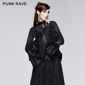 Punk Rave Fashion Lolita Ladies Long Office Shirt (Y-213/BK) pictures & photos