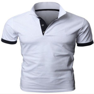 China Cotton Plain White Polo T-Shirt - China White Polo T ...