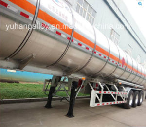 46cbm Oil Aluminium Tanker Semi Trailer Fuel