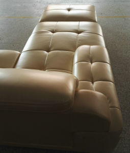 Europe Type Top Grain Genuine Leather Sofa (A816) pictures & photos