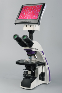 Video Microscope with Phase Contrast pictures & photos