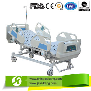 Luxury Hospital ICU Electric Bed with ABS Railing pictures & photos