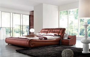 2014 Hot Selling Modern Soft Italian Leather Bed 680#
