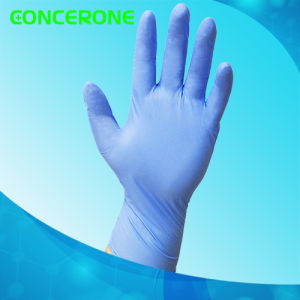 High Quality Blue Color Examination Nitrile Gloves pictures & photos