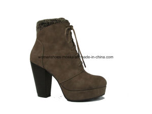 Comfort Wholesale Women Fashion Chunky High Heel Ankle Boots pictures & photos