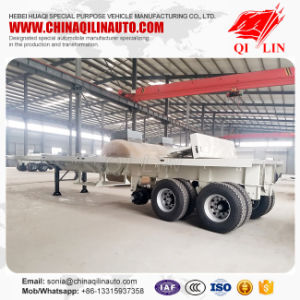 Heavy Duty Truck Flatbed Semi Trailer Sales for Philippines pictures & photos