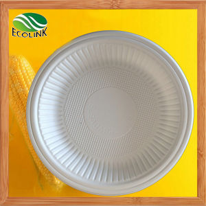 6 Inch Disposable Biodegradable Cornstarch Plate pictures & photos
