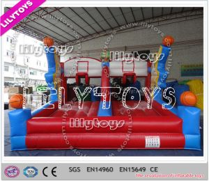 Lilytoys New Customize Red&Blue Inflatable Basketball Shoot Game for Club (J-SG-042) pictures & photos