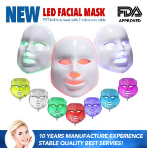Factory Direct Wholesale 7 Photon LED Light Therapy Facial Mask Machine for Home Use pictures & photos