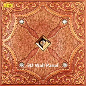 Wall Title Wall Cladding 3D PU Leather Wall Panel pictures & photos