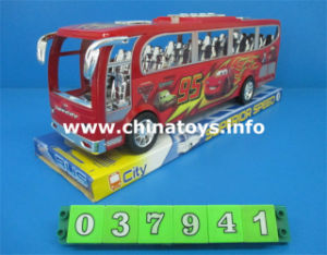 New Plastic Friction Toys Bus, Boy′s Toy (037940) pictures & photos