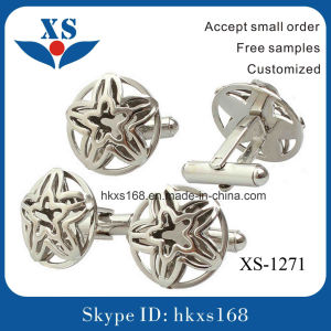 High Polished Stainless Steel Classical Cufflink pictures & photos