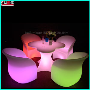 LED Arm Chair and Flower Shape Table Light up Furnitures pictures & photos