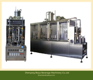 Yogurt Drink Gable Top Carton Filling Packaging Machine pictures & photos