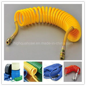 High Quality Colorful PU Spiral Air Hose with Brass Quick Connector pictures & photos