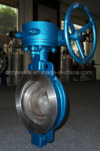 Both-Deriction Pressure Wafer PTFE Seat Sealing Butterfly Valve pictures & photos