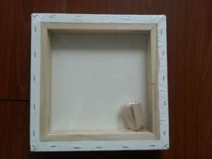 "6*12"" 3.8*3.7cm Thickness 280g Canvas Pinewood Stretched Canvas (back stapled) pictures & photos"