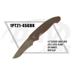 """4.5""""Closed Liner Lock Tactical Knife with G10 Handle: 1PT21-45gbk pictures & photos"""