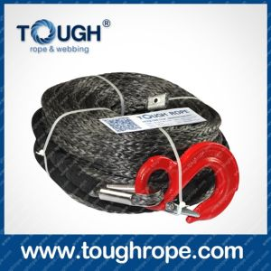 Tr-05 Winch for Boat Trailer Dyneema Synthetic 4X4 Winch Rope with Hook Thimble Sleeve Packed as Full Set pictures & photos
