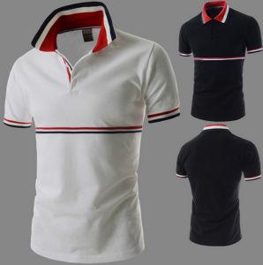 OEM Good Quality Pique Striped Casual Men′s Polo Shirt pictures & photos