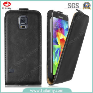 Korean Style Genuine Leather Flip/Mobile Cover for Samsung Galaxy S5 pictures & photos