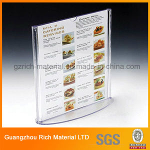 Acrylic Menu Stand/Plastic PMMA Acrylic Menu Display for Hotel pictures & photos