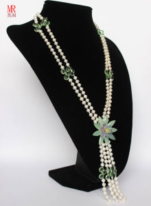 Long Fashion Natural Freshwater Pearl Necklace pictures & photos