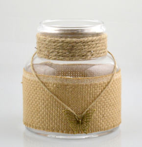 Big Glass Vase with Cotton Rope pictures & photos
