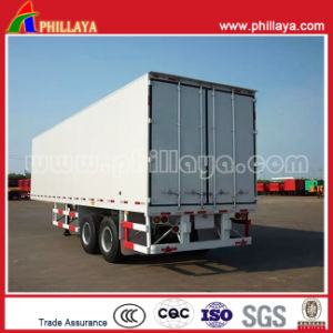30tons Small Enclosed Box Cargo Transport Semi Truck Van Semitrailer pictures & photos