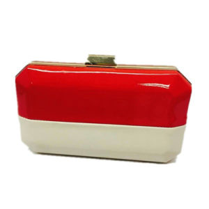White Red PU Lady clutch Fashion Eveningbag pictures & photos
