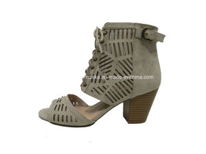New Style Women Fashion Chunky Heel Ankle Boots for Summer pictures & photos