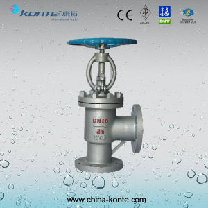 Cast Steel Angle Type Globe Valve Pn25 Dn80 Wcb pictures & photos