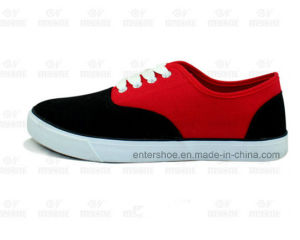 Low Cut Rubber Canvas Casual Women Shoes (ET-MY170439W) pictures & photos