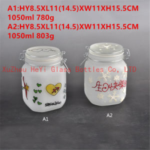 Square Seal Glass Jar Storage Glass Jar 1L pictures & photos