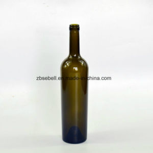 750ml Tapered Glass Wine Bottle Weigh 1200g Green Color Cork Top pictures & photos