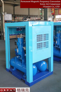 Industrial Lubricated Rotary Screw Air Compressor with Air Tank pictures & photos