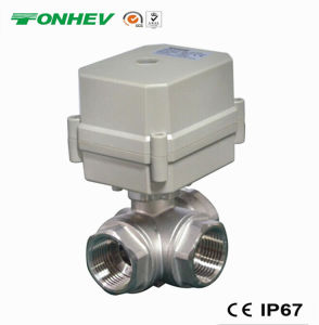 3-Way Electric 304ss Motorized Flow Control Water Valve (T20-S3-C) pictures & photos