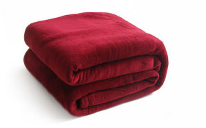 High Quality Solid Flannel Blanket Fabric pictures & photos