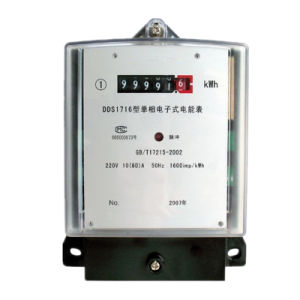 Single Phase Solid Static Energy Meter with Cyclometric Register pictures & photos