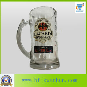 Glass Cup Colored Bottom Beer Mug Kb-Hn03157 pictures & photos