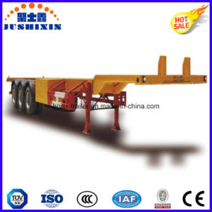 Factory Price Tri-Axle 60 Ton 40FT Skeleton Container Semi-Trailer pictures & photos