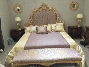 Middle East Style Hotel Luxury Antique 5 Star Room/European Style Kingsize Bedroom Furniture/Classic (NPHB-1204) pictures & photos