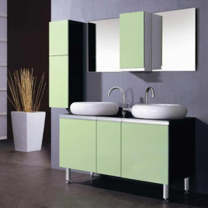 Hot Painting MDF Bathroom Cabinet with Side Cabinet (SW-G001) pictures & photos