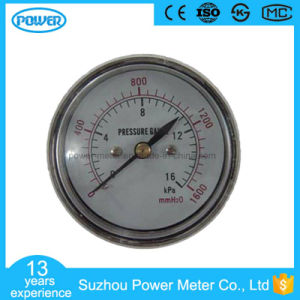 60mm Chrome Plating Case Back Type Low Pressure Gauges Gold Supplier pictures & photos