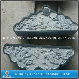 Sandblasted Shanxi Black Granite Art Shadow Carving / Sculpture pictures & photos