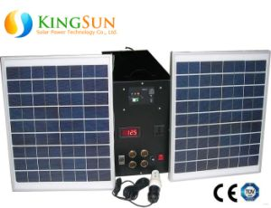 20W Small Solar PV Lighting System/Solar Power System for Home pictures & photos