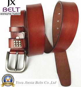 Man′s Split Leather Belt pictures & photos