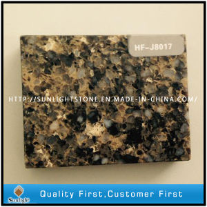 Cheap Artificial Brown Quartz Stone/Mixed Color Quartz pictures & photos