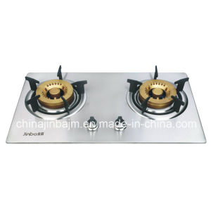 2 Burner #120 Golden Brass Burner Cap Built-in Hob pictures & photos